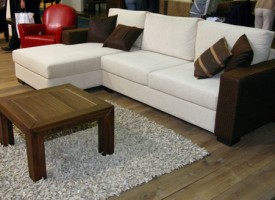 Three seater & chaise lounge