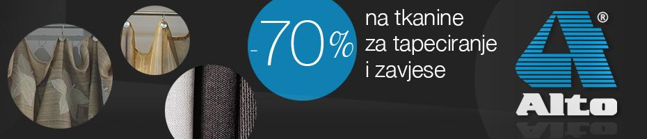 70% popusta na dio asortimana tekstila i zavjesa do isteka zaliha